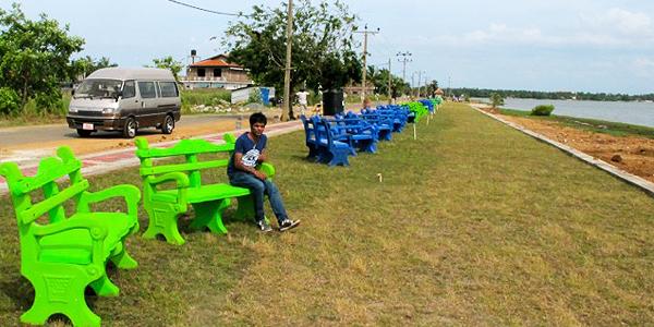 Batticaloa lagoon promenade