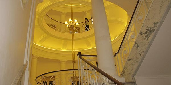 The central staircase of Colombo's newly opened money museum