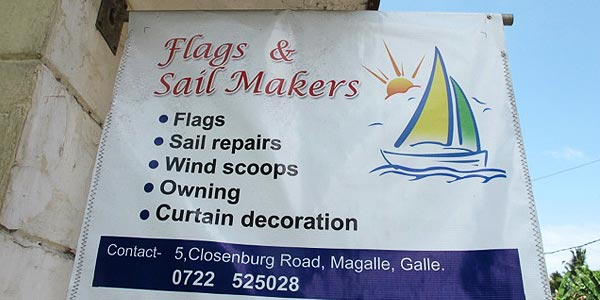 Sail makers still exist in Sri Lanka
