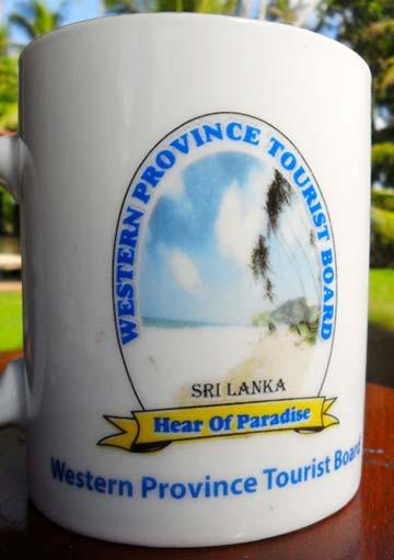 Tourist Board souvenir mug