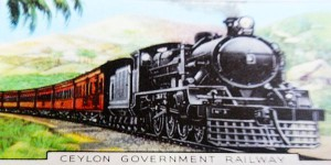 Sri Lanka railways from a 1930s British cigarette card