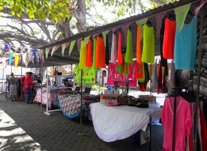 Stalls at Galle's once-a-month market