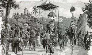 Kandy perahera, 19th century