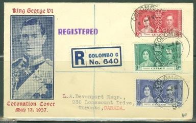FDC Corontaton 1937